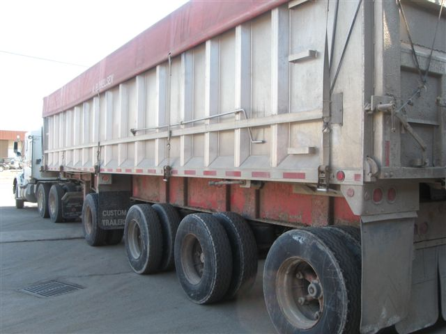Dump Trailer Before