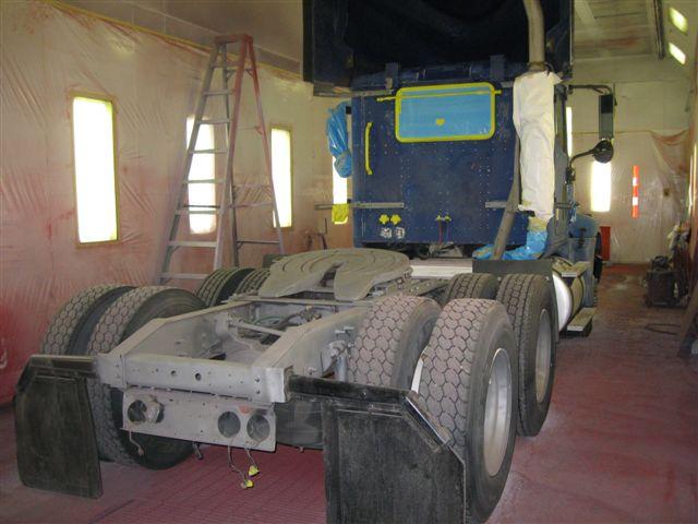 truck sandblast and paint before
